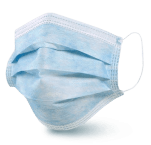 blue disposable mask