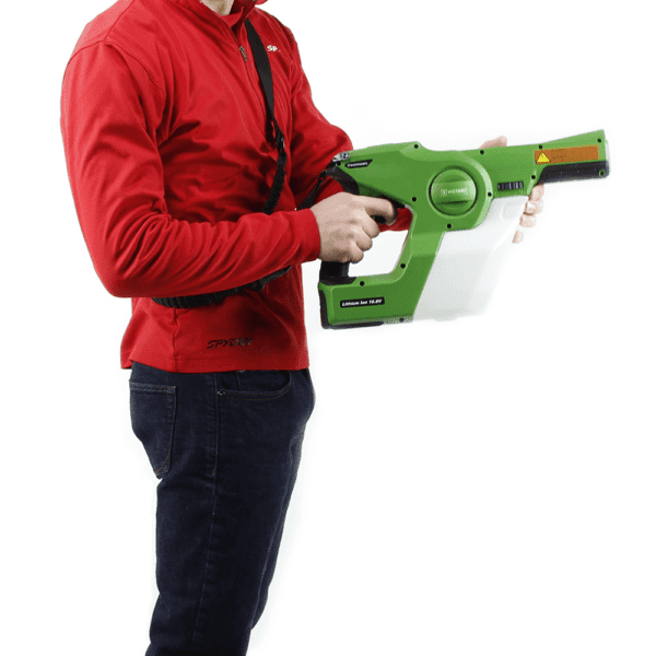 man holding spray