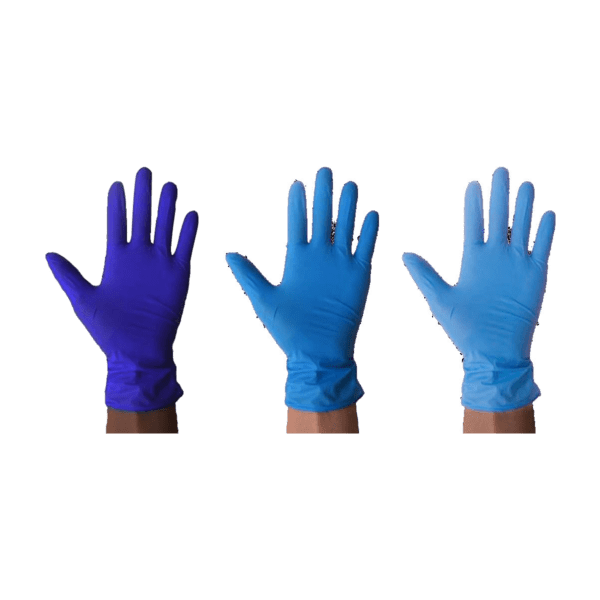 blue surgical gloves